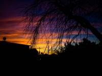 虹の夕焼け
