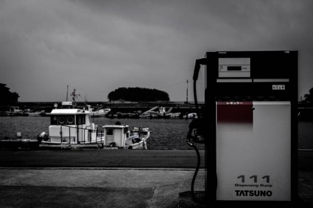 港の給油所