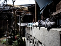 靴の壁上行進