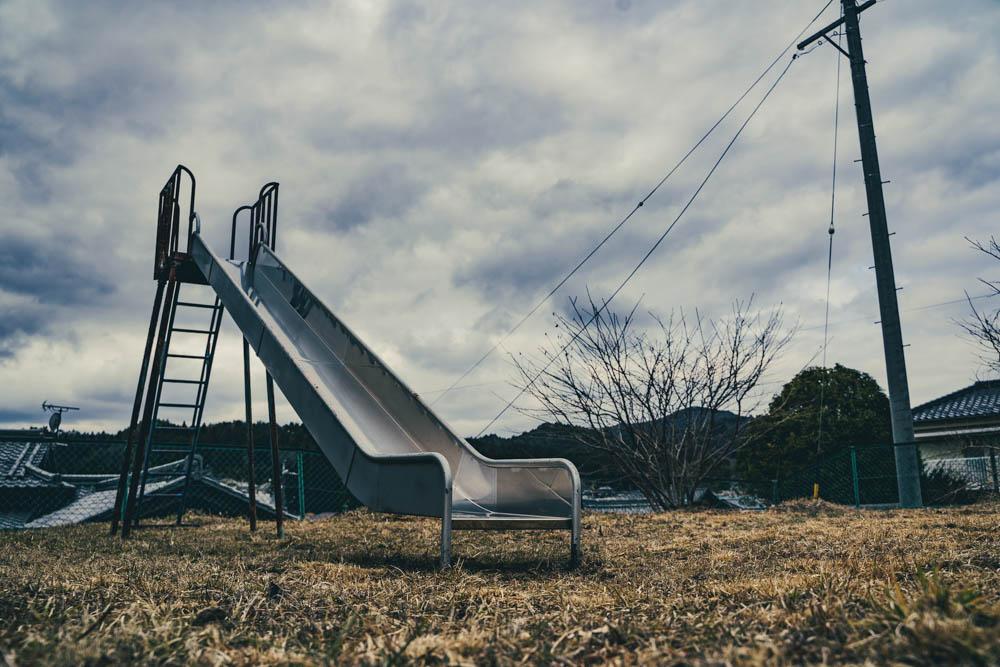 滑り台からの景色